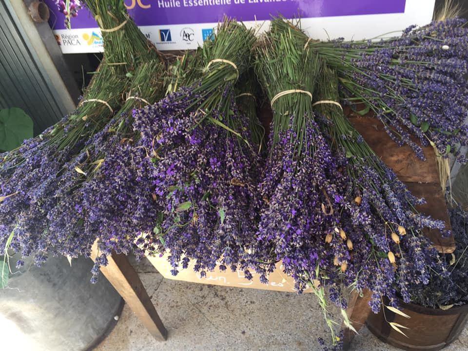 bunch of lavender at a market